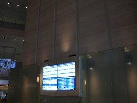 大阪証券取引所一階